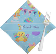 easter napkins happy easter napkins set of 4 personalized baby n toddler