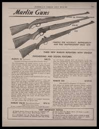 1945 marlin model 101 100sb 80 c 22 rifle ad ruger guns