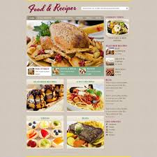 cooking recipe web template free website templates