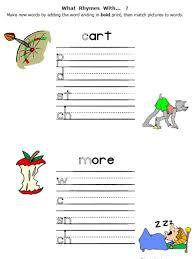 rhyming words worksheets for kindergarten worksheets