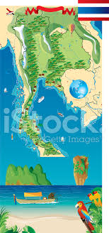 thailand vector map map of thailand stock vector freeimages