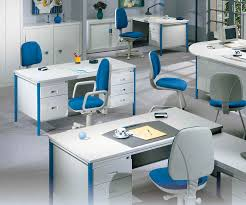 Modern Workstation Desk by Contemporary Home Office Desks With Modern White Curve Desk Blue