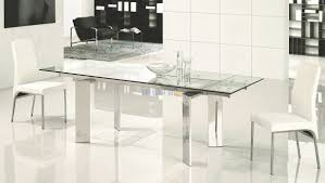 Modern Glass Dining Table Set Furniture Miles Cromato Gen 0008 Model Homes Interiors Furnitures