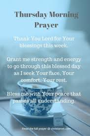 thursday morning prayer and bible verses christianstt