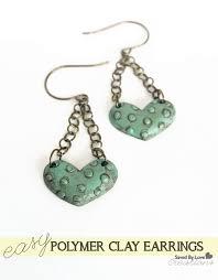 grunge earrings diy polymer clay grunge heart earrings