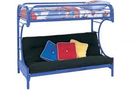 Metal Futon Bunk Bed Blue Metal Futon Bunk Bed Boomerang The Futon Shop