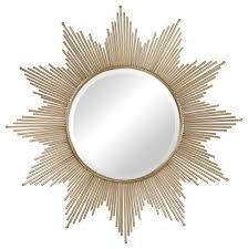 Mid Century Modern Wall Mirror Sterling Industries Gold Leaf Churchfield Starburst 41