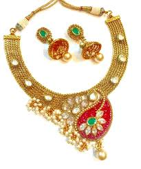 new necklace collection images Polki necklace set jpg