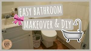 easy bathroom makeover u0026 diy youtube