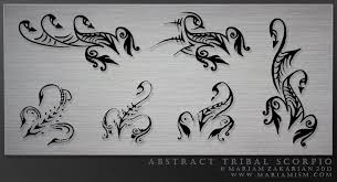 abstract tribal scorpio tattoos by mariamism on deviantart