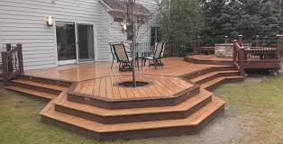 Deck Firepit Pit On Wood Deck Plan Best Pit On Wood Deck Ideas