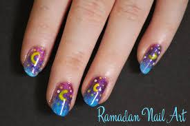 easy nail art diy crescent moon ramadan nail art tutorial for