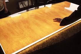 Wood Reception Desk Backlit Wood Reception Desk Illuminated Wood Panels Gpi Design