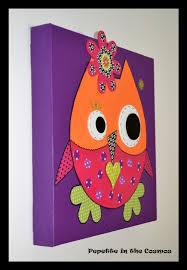 toile chambre enfant cuisine tableau hibou cadeau de naissance tableau bã bã tableau