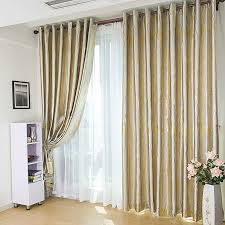 Window Curtain Double Rods Modern Floral Living Room Blackout Curtains With Rose Patterns