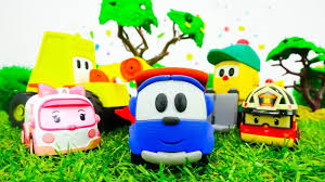 tayo cizgi film video cars and trucks toys for kids leo the truck and traffic jam tayo