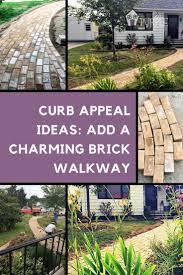 charming brick paver walkway project pretty purple door