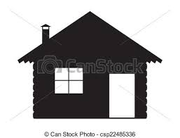log cabin drawings a log cabin silhouette design isolated on a white background