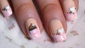 acrylic 3d cupcake nail art tutorial youtube