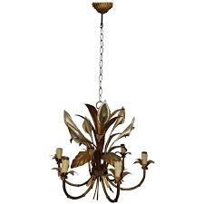 Thomasville Chandeliers Italian Calla Lily Six Light Gilded Chandelier Calla Lilies