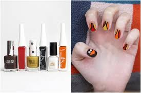 cute and easy thanksgiving nail art tutorials