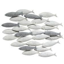 stratton home decor of fish grey metal wall decor free
