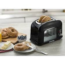 See Theough Toaster Toaster Gourmia Gwt230 2 Slice Motorized Toaster With See