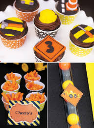 construction cake toppers creative construction themed birthday party loads of