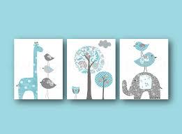 tableaux chambre bébé lot de illustrations pour chambre d enfant et bebe bleu gris tableau