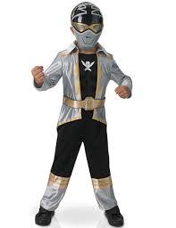 Sasuke Halloween Costumes Boys Silver Ranger Muscle Costume Power Rangers Super Megaforce
