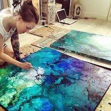 emma lindstrom acrylic and spray paint abstract art art