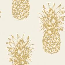 papier peint bureau pc arthouse tropics copacabana ananas papier peint dore noir blanc