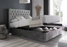 Single Ottoman Storage Bed by Sapphire Upholstered Ottoman Storage Bed Glitz Silver Ottoman