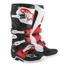 moto boots sale alpinestars tech 7 black white red motocross boots enduro atv moto