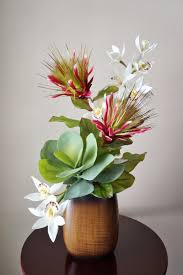 Silk Flowers Arrangements - silk flower arrangement tropical flower arrangement with orchids