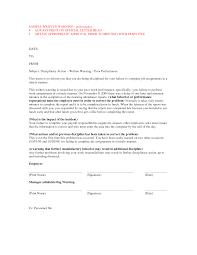 work warning letter template
