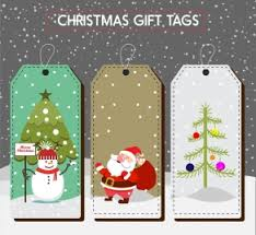 christmas labels and gift tags vectors stock for free download