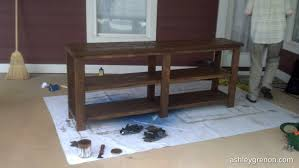 Diy Console Table Plans Diy Rustic X Console Plans By Ana White Handmade With Ashley