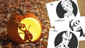 printable pumpkin stencils elsa these cinematic pumpkin carving templates will be a huge hit