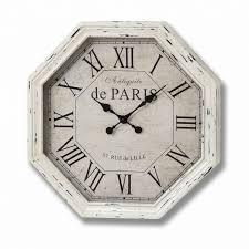 Garden Wall Clocks by Antiquite De Paris Octagonal Cream Wall Clock All You Need For