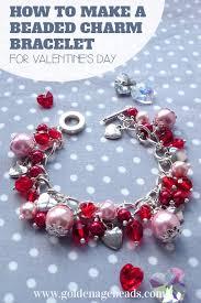 diy beaded charm bracelet images Diy beaded charm bracelet project for valentine 39 s day golden age jpg