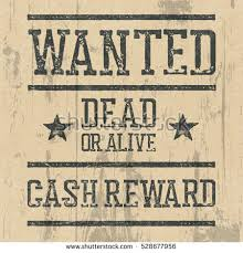 wanted poster design template wanted sign stock illustration