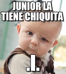 Junior Meme - junior la tiene chiquita sceptical baby meme on memegen