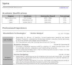 Market Research Resume Samples by Analytics Professionals Free Resume Templates