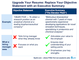 Examples Of Objective In A Resume by The Most Important Thing On Your Resume The Executive Summary