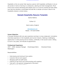 Resume Examples For Hospitality by Cover Letter Hospitality Management Cover Letter Hospitality