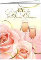 45th birthday invitations from greeting card universe