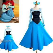Ariel Halloween Costume Women Customized Mermaid Princess Ariel Dress Cosplay
