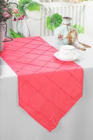 cheap coral table runners coral pintuck taffeta table runners sale