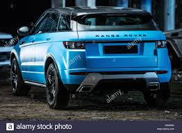 land rover evoque blue range rover evoque tuning stock photo royalty free image